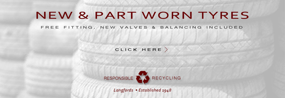 New & Part Worn Tyres - Fitted Free
