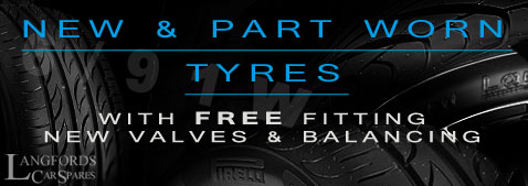 Used And Worn Tyres At Langfords Car Spares